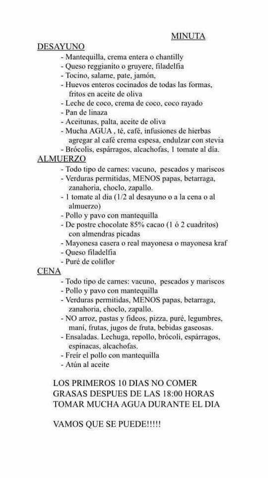 carbohidratos diarios recomendados en la dieta cetosis