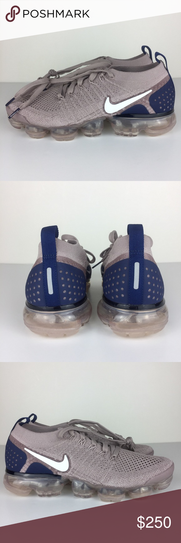 958d35a628077 Nike Air VaporMax Flyknit 2 Taupe Blue Brown pink Nike Air vapormax flyknit  2 Diffused taupe Phantom blue colorway 942842 201 size 7.5 Brand new  without ...