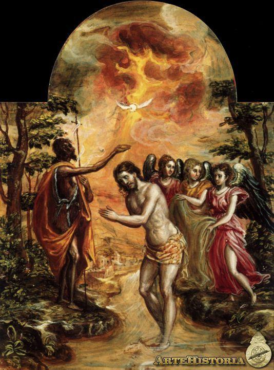 Bautismo de Cristo. El Greco, 1567. Dimensiones: 24 x 18 cm. La ...