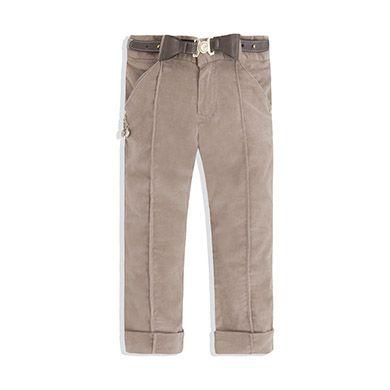 Pantalón largo de pana lisa Cemento  e237a39d06dd