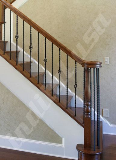 Best Powder Coat Stair Rail With Twist And Single Basket By 400 x 300