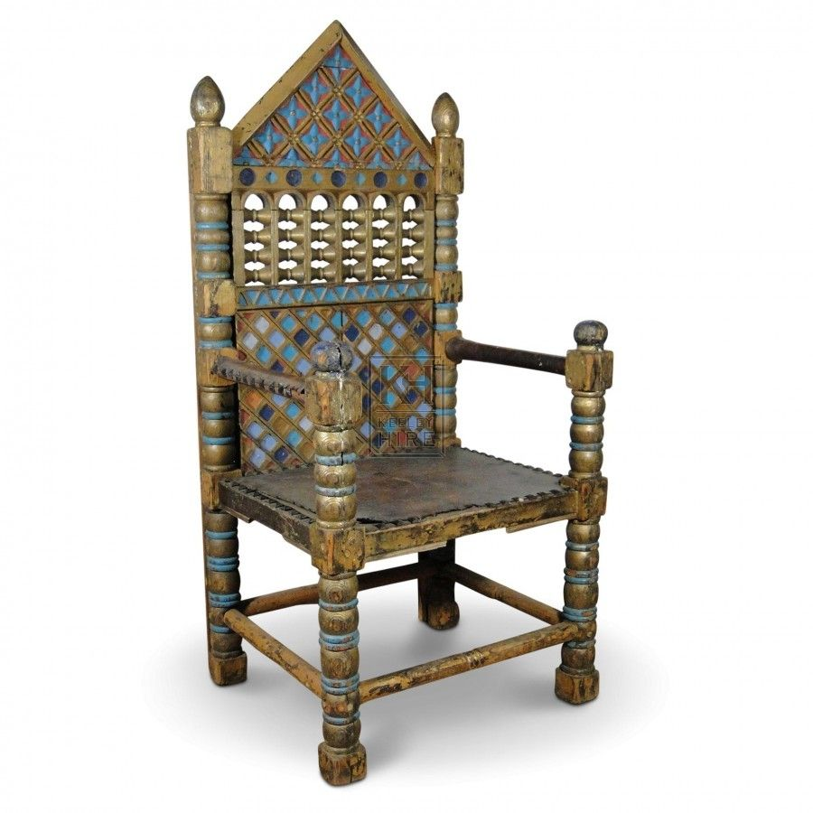 King U0026 Queen Pointed Throne Chairs