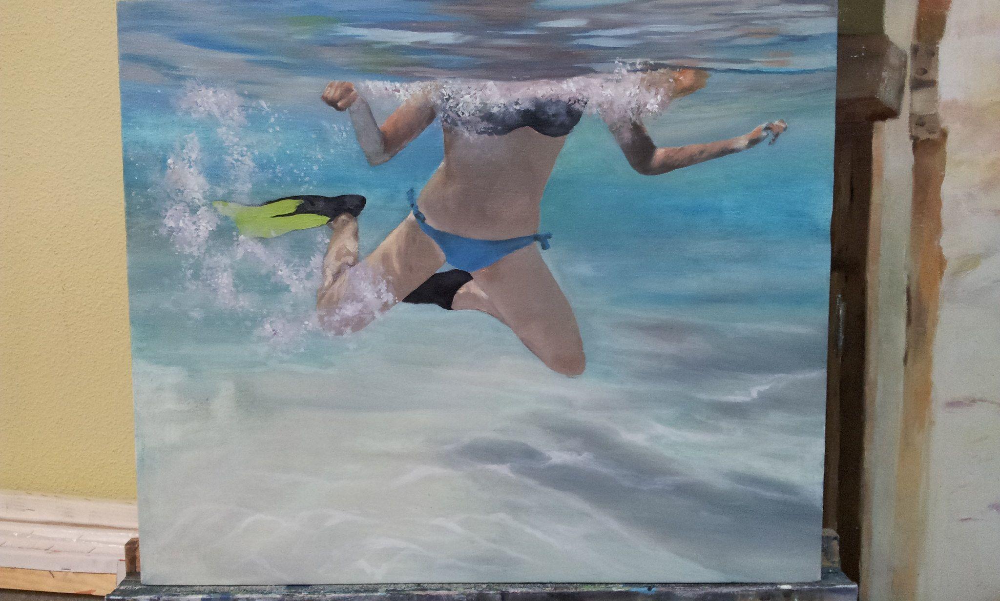Sirenas 3. Un robado de una de las sirenas. Ella sola también flota. En Cerdeña.