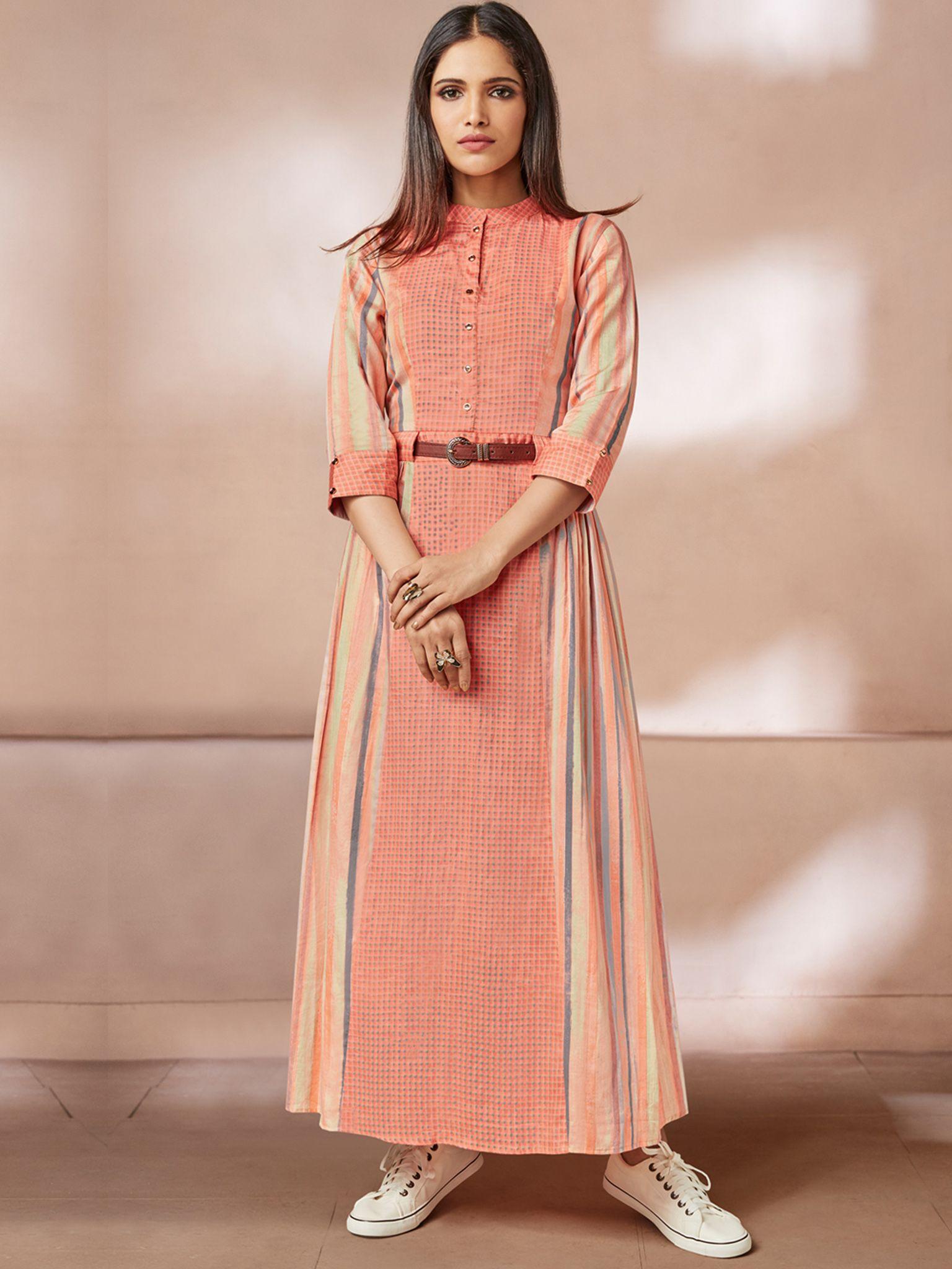 b596c6a33e Peach Color Rayon Fabric Fancy Kurti | Vastravibe in 2019 | Fancy ...