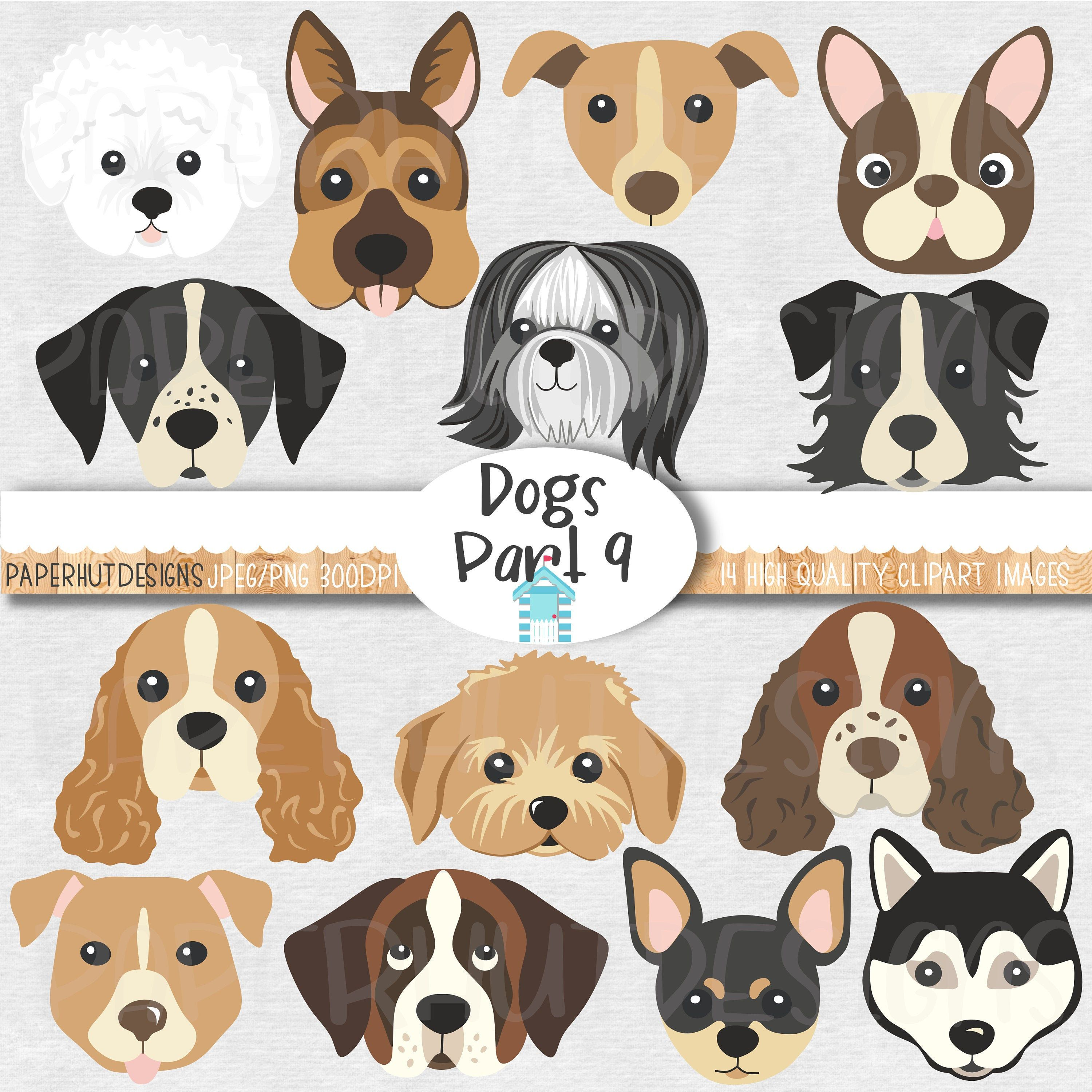 Dog Faces Clipart Cute Puppy Faces Clipart Dog Clip Art Puppy Clipart Dogs Faces Dog Digital Dog Images Digital Graphics Bu Dog Clip Art Puppy Clipart Dog Face
