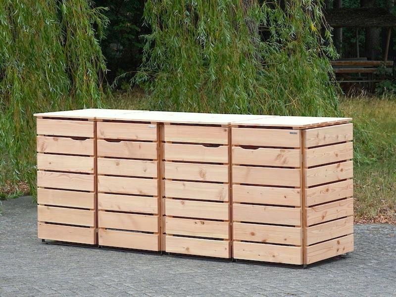 4er Mulltonnenbox Mulltonnenverkleidung Fur 60 L 80 L 120 L 240 L Mulltonnen Heimisches We Mulltonnenbox Mulltonnenbox Holz Mulltonnenverkleidung Holz