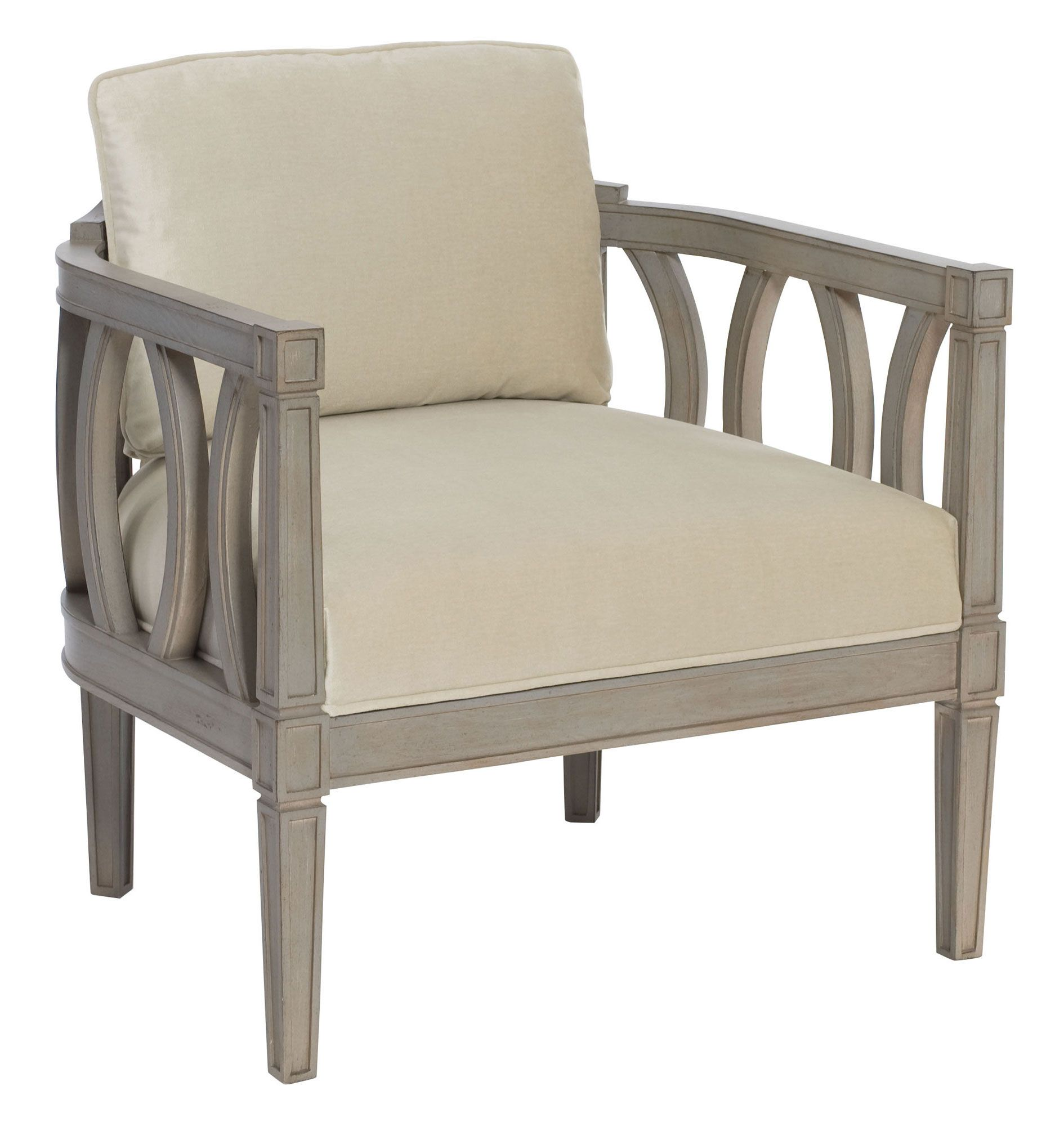 Ansley Chair | Bernhardt B8003 Fabric Shown 2838-002 W: 29.5 D 28 H ...
