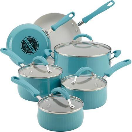 Farberware New Traditions Aluminum Nonstick 12-Piece Cookware Set ...