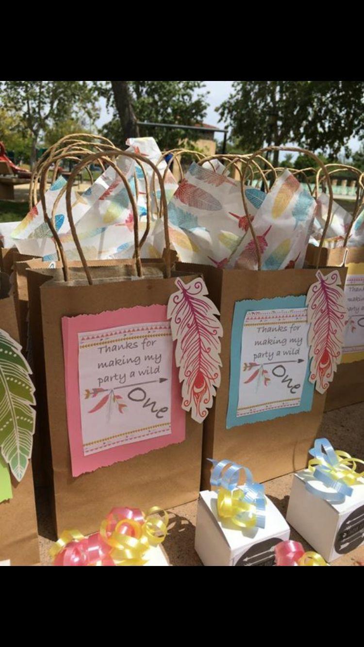 Boho Powwow Theme Party Goodie Bags