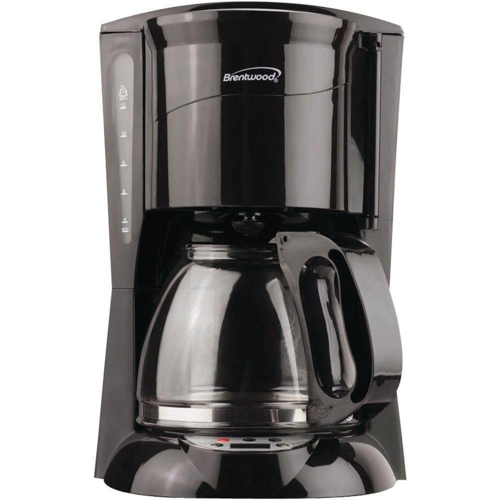 Brentwood 12 Cup Coffee Maker Black Digital 900w Auto Shutoff