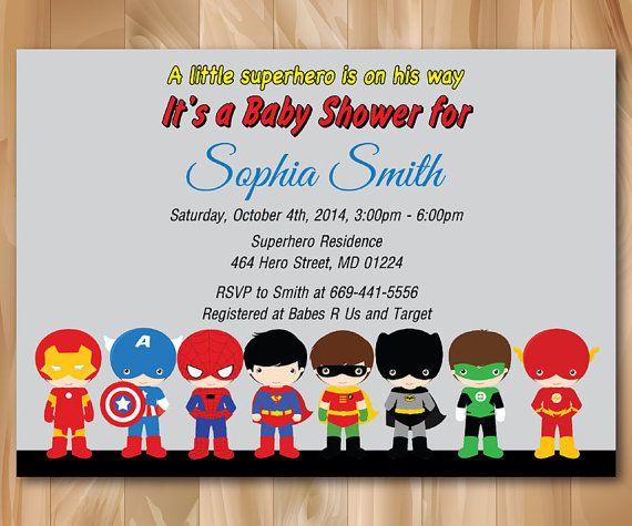 Superhero Baby Shower Invitation Super Hero Baby Shower Invite