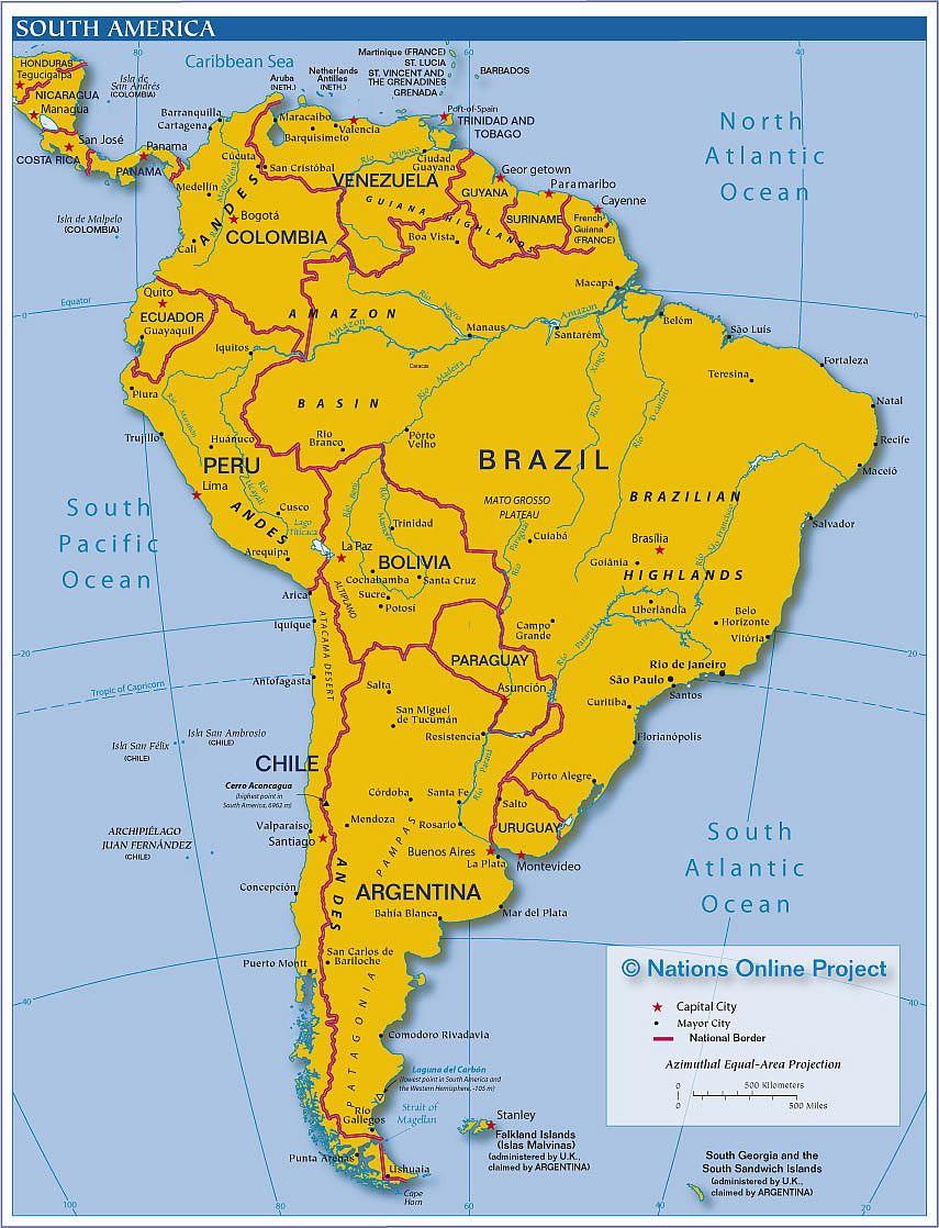 Politcal map of south america homeschool ideas cccha help politcal map of south america sciox Images