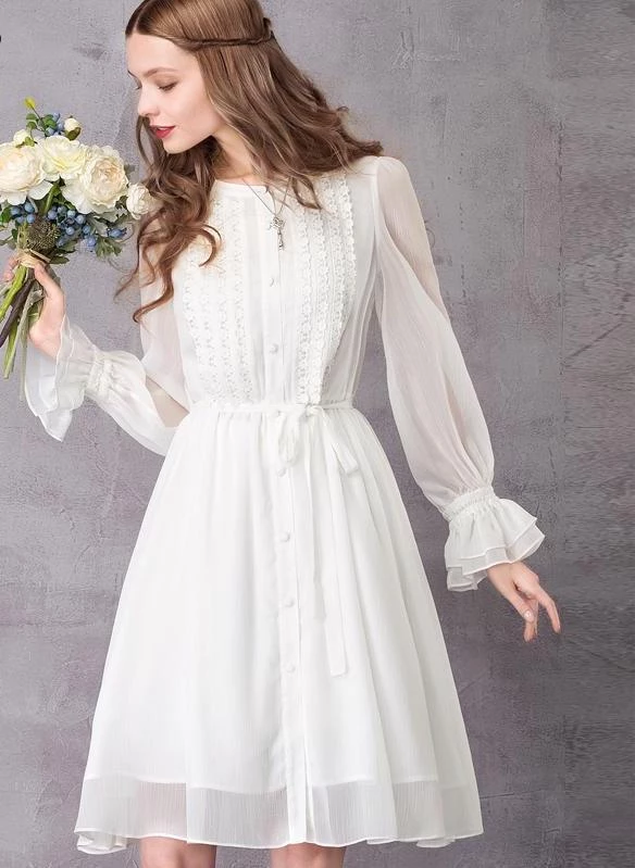 White Bridal Shower Dress Western Dress For Girls Bridal