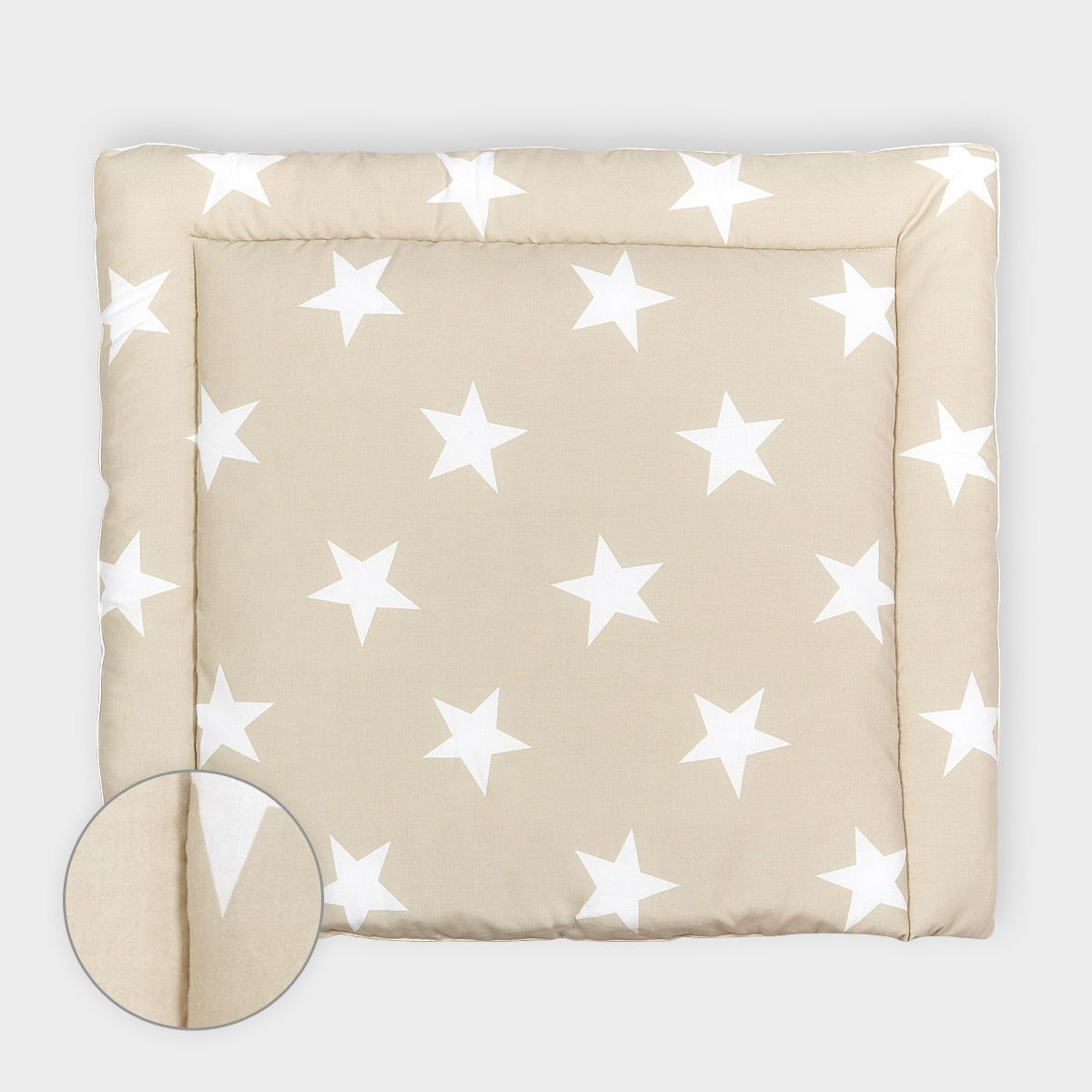 Kinderzimmer sterne beige  Wickelauflage – weiße Sterne auf beige 34 Euro by KraftKids | BABY ...
