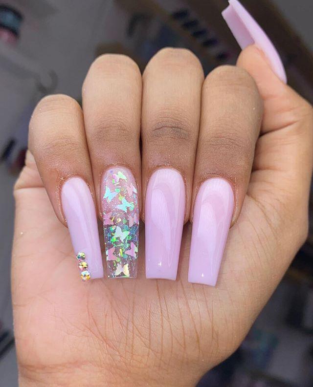 Xclusivejaz In 2020 Rhinestone Nails Crystal Nails Simple Acrylic Nails