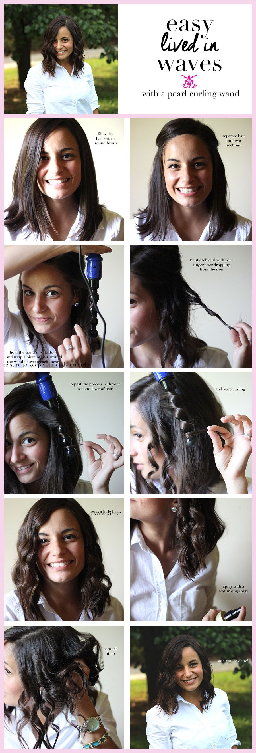Easy lived in waves how to curl wand and easy hairstyles