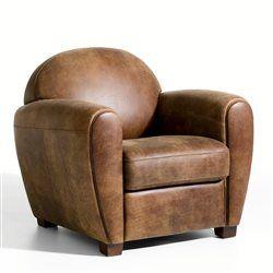 fauteuil cuir veilli barnaby fauteuil cuir fauteuils et. Black Bedroom Furniture Sets. Home Design Ideas