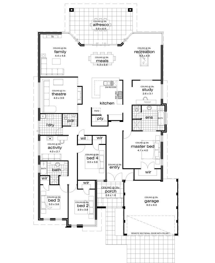 Premiere Homes 17m Wide Block Decor House Plans