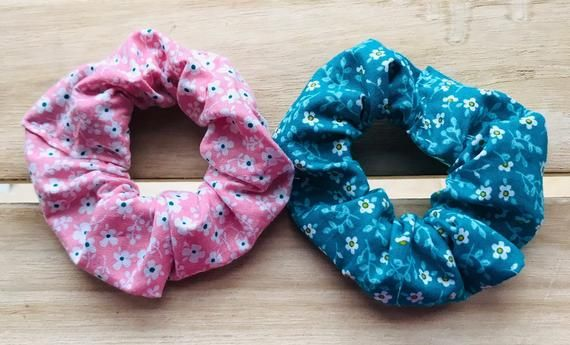 Cotton hair scrunchies, girls hair scrunchie , set of 2 hair scrunchies, scrunchie #hairscrunchie