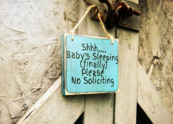 No Soliciting Sign, Baby Sleeping Sign, No solicitation, Funny No Soliciting, Door Sign, Front Porch Sign,Gift For New Parents,Handmade Sign #nosolicitingsignfunny