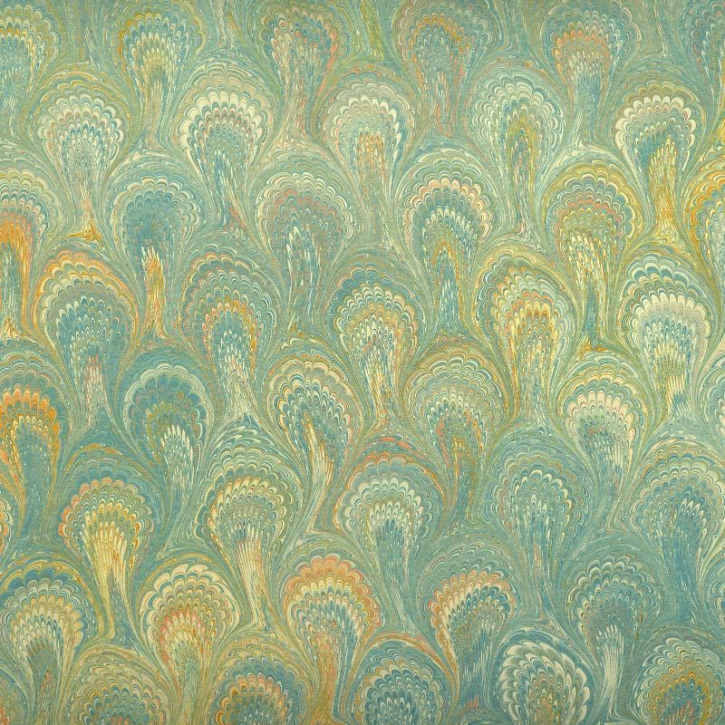 Image Detail For Berretti Florentine Marbled Paper Turquoise Peacock Pattern Marble Paper Peacock Pattern Paper