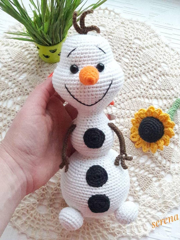 Olaf The Snowman Crochet Pattern Amiguroom Toys In 2020 Snowmen Patterns Disney Crochet Patterns Crochet Toys Patterns