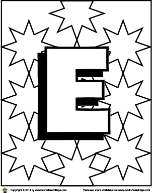 color the letter e - Letter E Coloring Pages