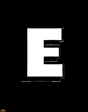 Color The Letter E