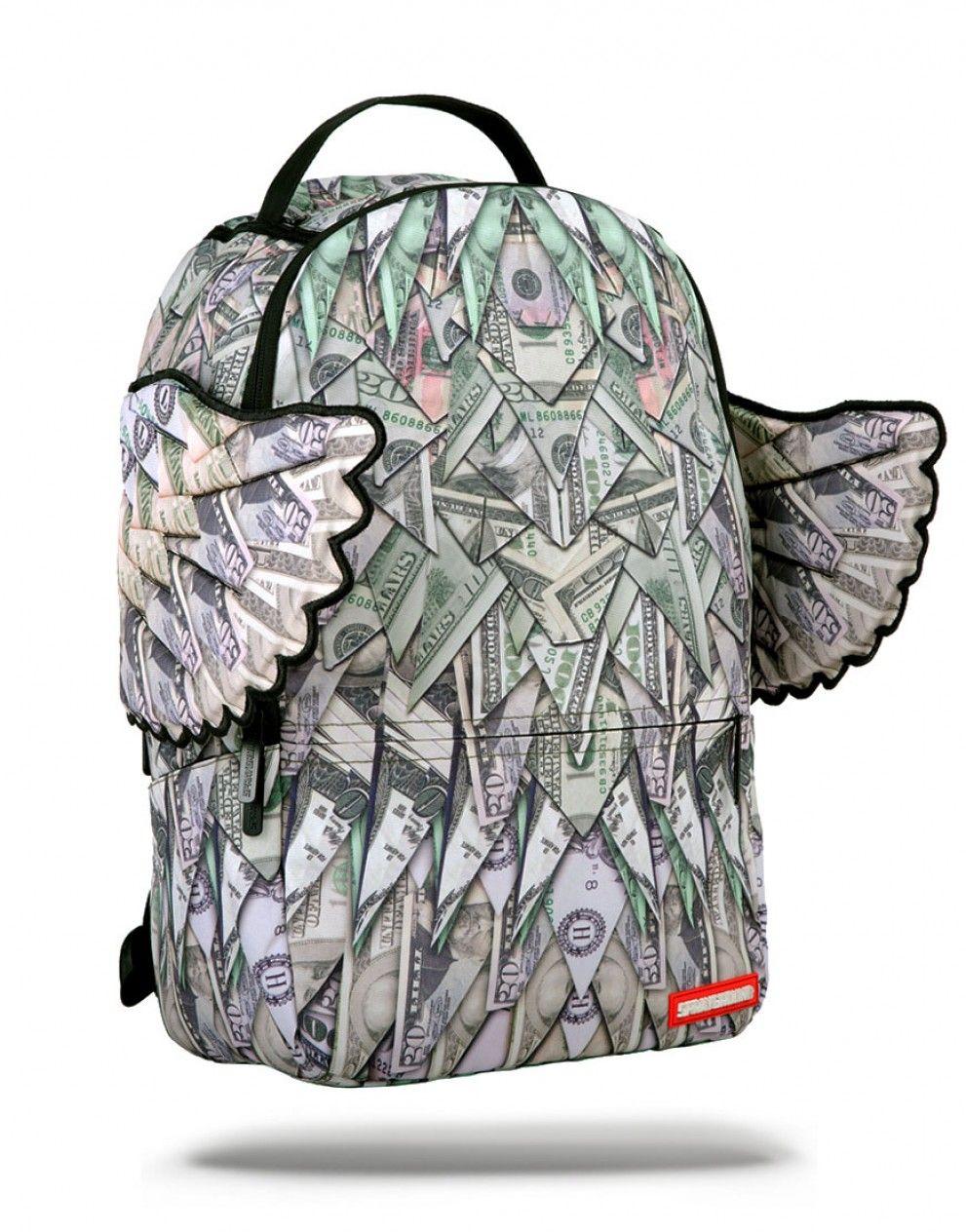 Sprayground Origami Money Wings Backpack White One Size hBifG