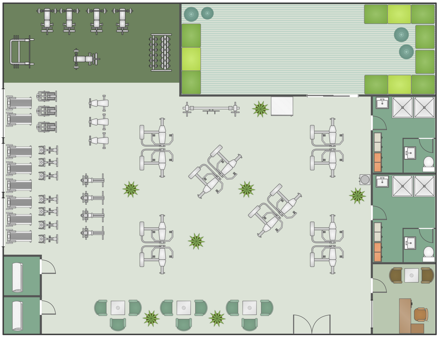 Fitness Center Floor Plan With Images