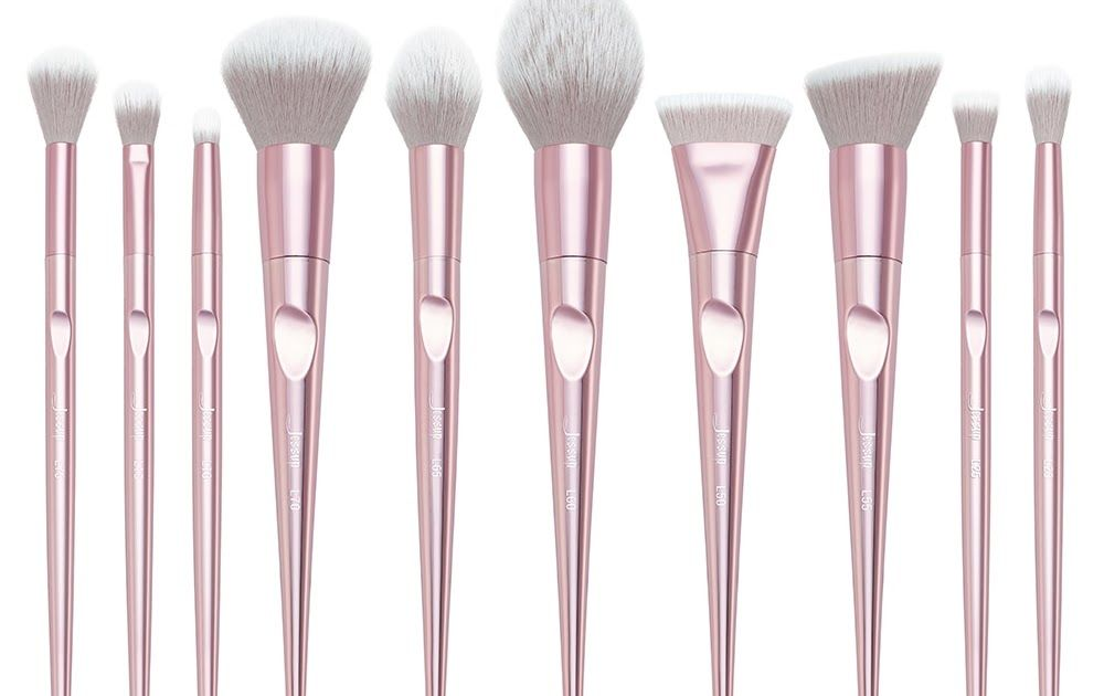 fca1c94bb Best Price New arrival Jessup brushes 10pcs Pink Makeup brushes sets Make  up brush Cosmetic beauty