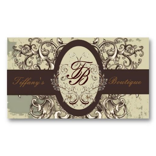 Salon stylist cosmetologist victorian monogram business card victorian frame vintage boutique business card reheart Image collections