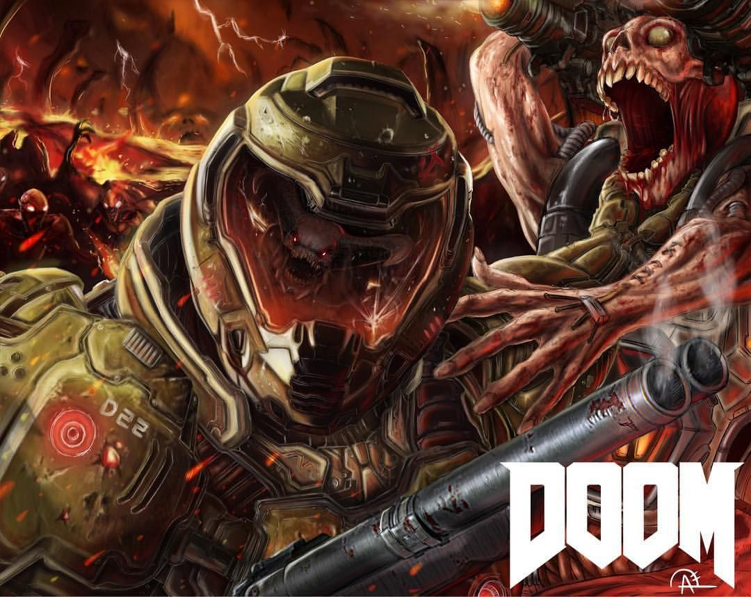 Doom Just Finished This Fan Art In Honor Of Doom And In