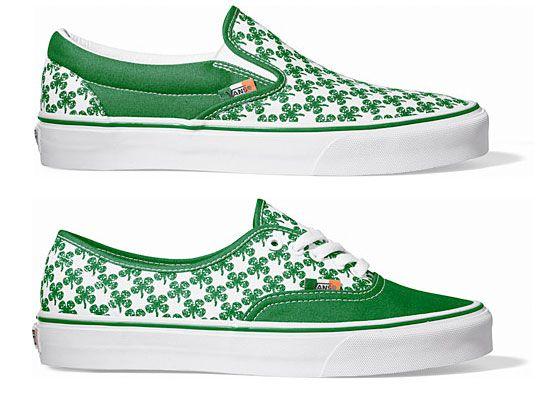 Shamrock Vans   Vans classic slip on sneaker, Vans, Fresh