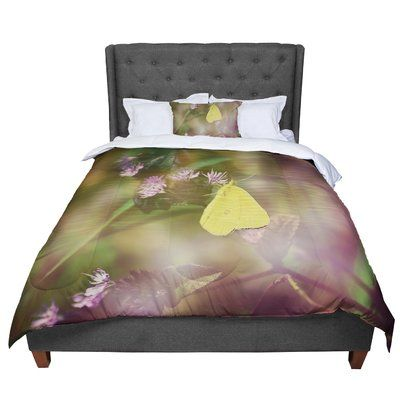 East Urban Home Robin Dickinson Butterfly Kisses Comforter