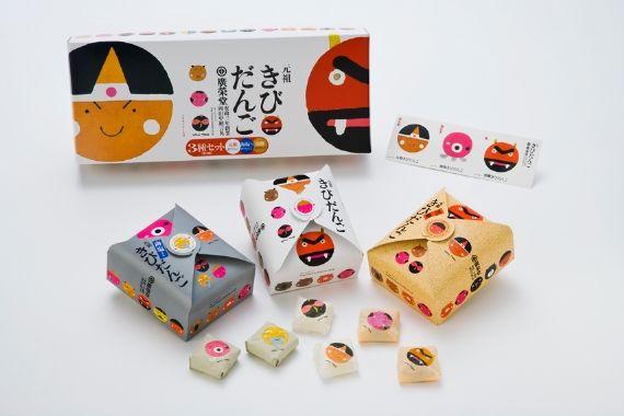 元祖きびだんご | Graphic design packaging, Creative packaging design, Japanese  packaging