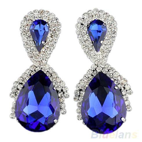 Mode Grote Water Oorbellen Vrouwen Blauw Designer Geïnspireerd Royal Oorbellen 00J7