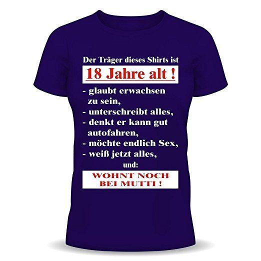 Lustige Sprüche Fun Tshirt! Der Träger dieses T-Shirts ist 18 Jahre alt! -  Geburtstag 18 tshirt mit Urkunde! - tshirt sprüche lustig t-shirt sprüch…