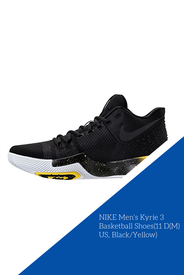 online store 4075e d4f2b NIKE Men's Kyrie 3 Basketball Shoes(11 D(M) US, Black/Yellow ...