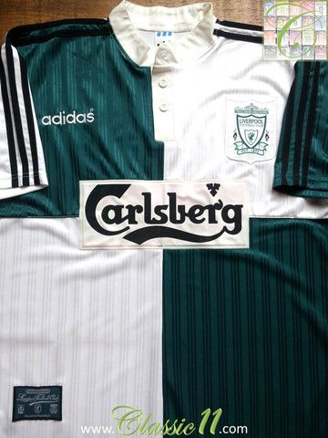 f95316c8df2 Relive Liverpool s 1995 1996 season with this vintage Adidas away football  shirt.