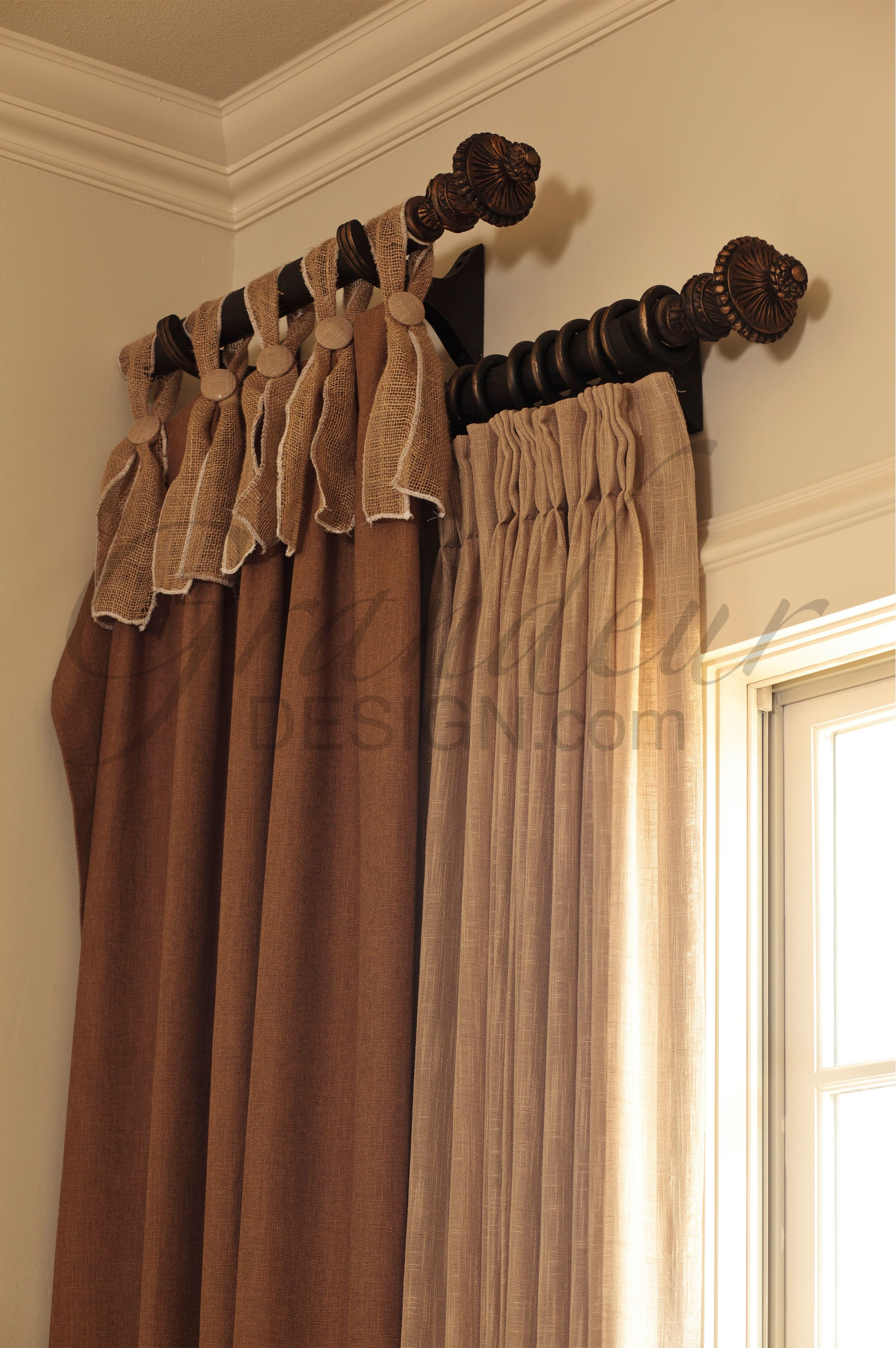 Using Double Or Two Small Decorator Rods At Different Heights W