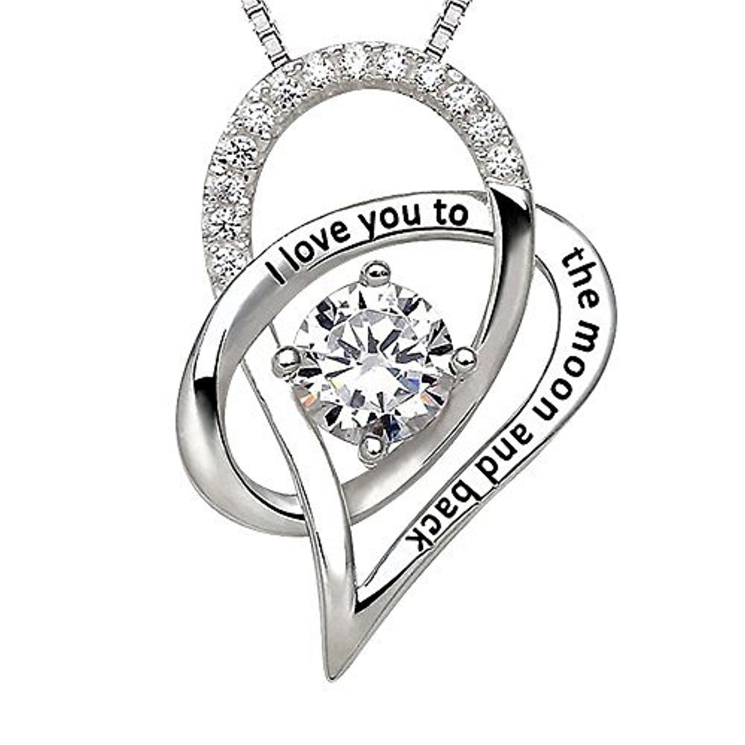 J Christian Collection I Love You to the Moon and Back Heart