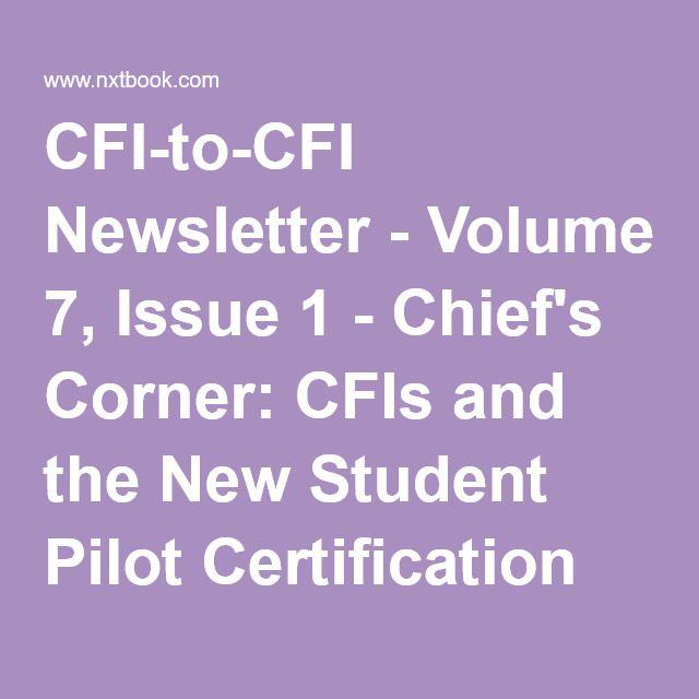 Cfi To Cfi Newsletter Volume 7 Issue 1 Chiefs Corner Cfis And