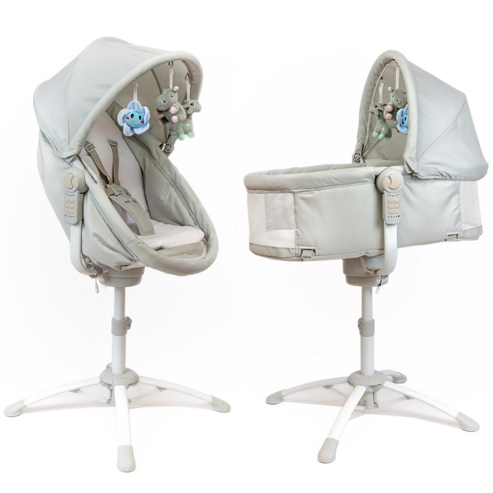 Louna 5 En 1 Berceau Balancelle Electrique Chaise Haute Chaise Basse Transat Accueil En 2020 Balancelle Electrique Transat Chaise Haute