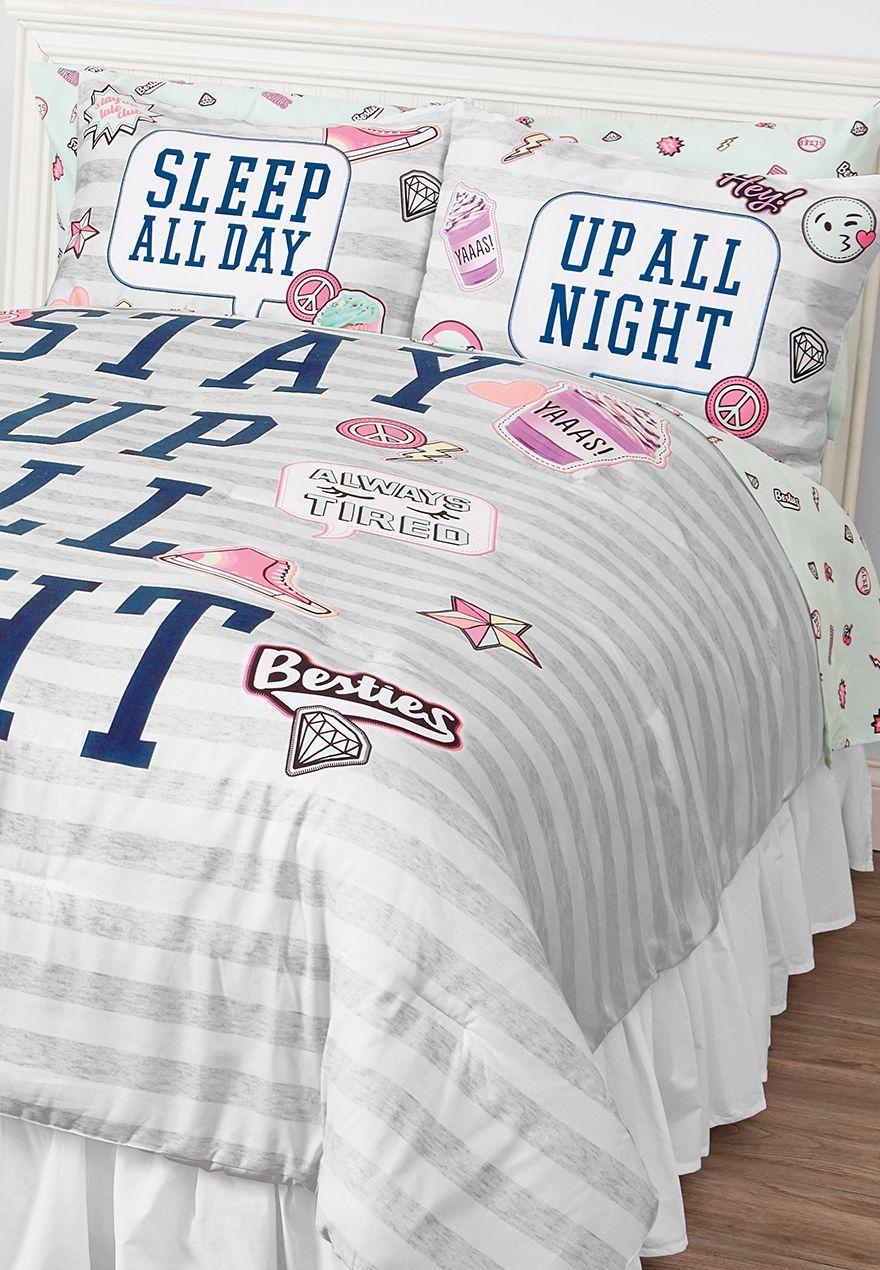 Queen Size Varsity Bed In A Bag Girl Bedroom Decor Girls