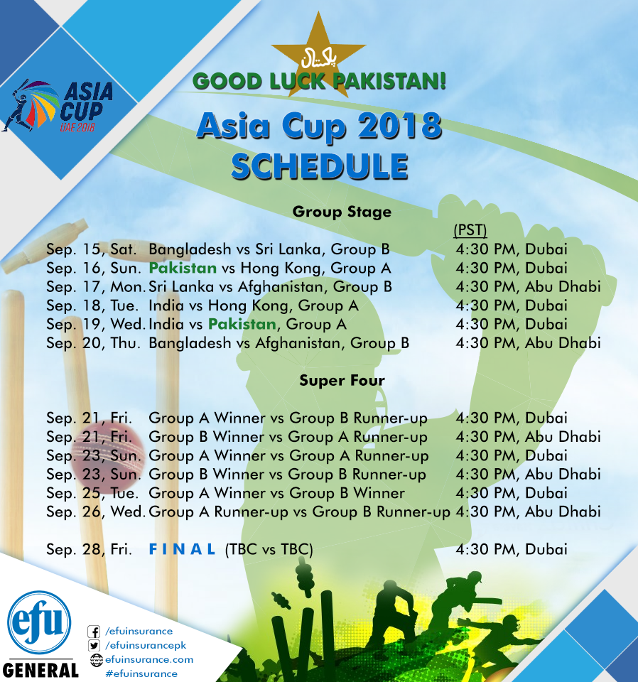 Pin by efuinsurance on efuinsurance Asia cup 2018, Asia