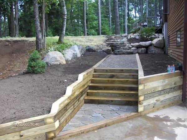 Escaleras y cantero ideas para el jardin pinterest - Escaleras jardin ...