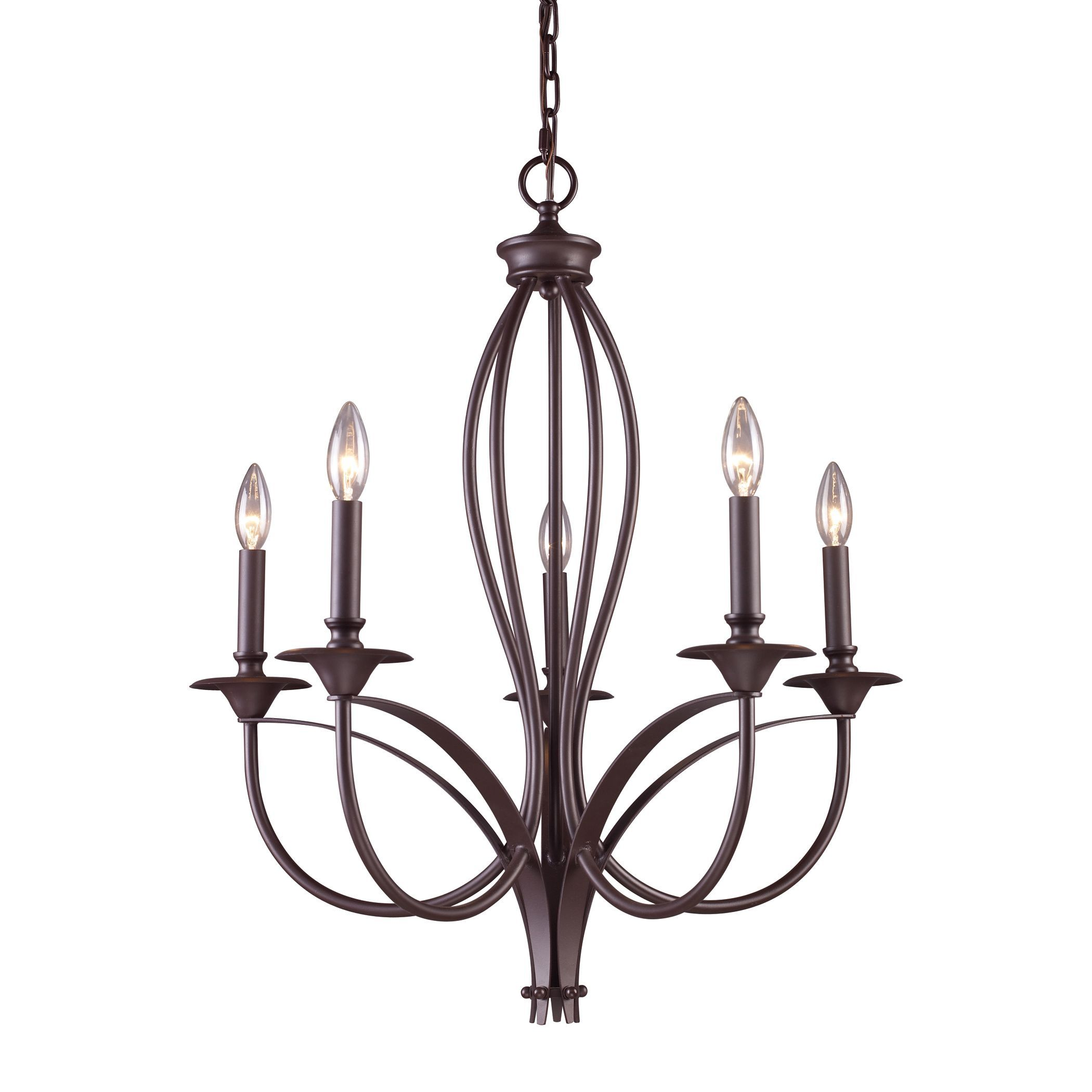 Simple elegance is what defines the Medford chandelier with it s