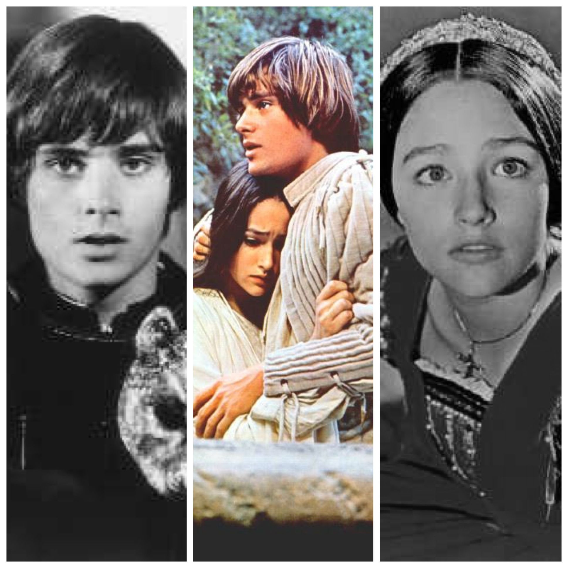 Romeo and Juliet 1968 - Olivia Hussey & Leonard Whiting:  Love this movie! Franco Zefferelli definitely knew what he was doing when he cast these two...Still have the vinyl soundtrack!! ♥