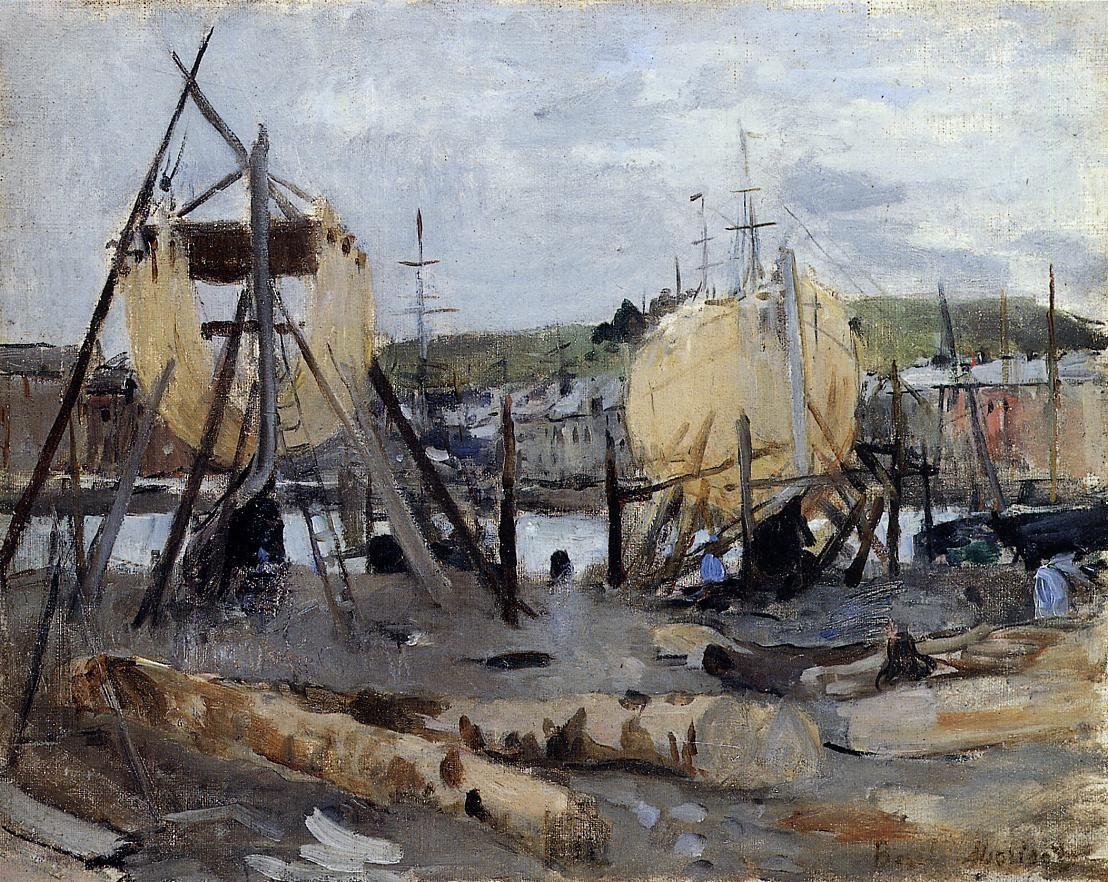 Berthe Morisot - Bateaux en construction